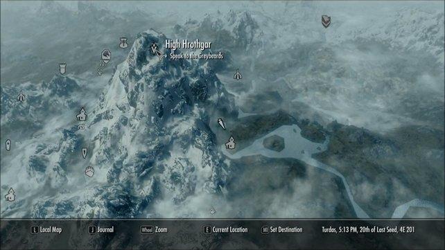 """Hrothgar, der Berg. Oder besser bekannt als """"Hals der Welt""""."""