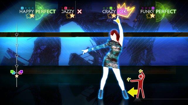 Eleganz bei Just Dance? Nein, eher ähnelt das Tanzen wildem Rumgehopse.