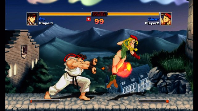 Super Street Fighter 2 Turbo HD sieht klasse aus.