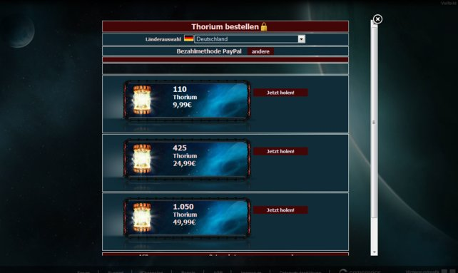 Das Thorium spielt eine Rolle im Spiel - besonders wichtig ist sie aber für die Spieler nicht.