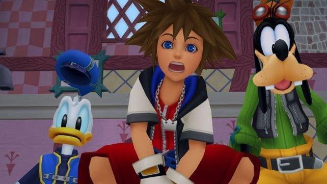 Sora, Donald und Goofy sehen in HD super aus.