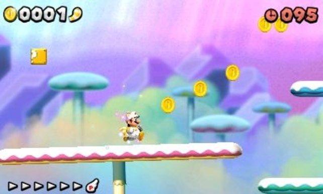 Der neue Mario ist oft herrlich farbenfroh.