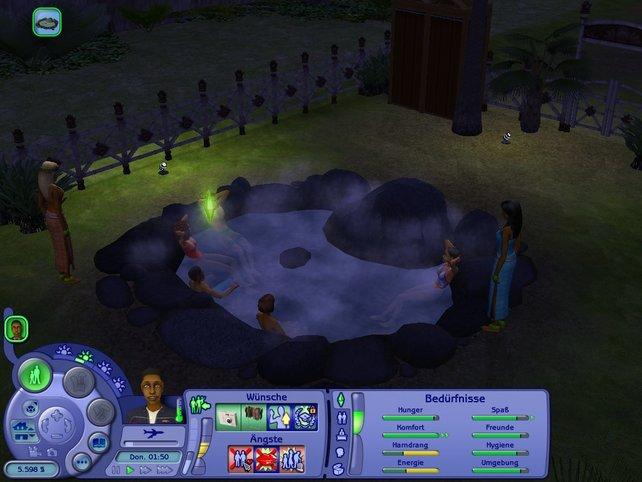Ein Bad in einer heißen Quelle - mal was anderes