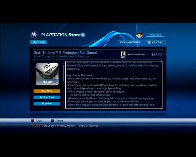 Im PSN könnt ihr Vollpreistitel, Demos, sowie minis downloaden. Die Auswahl ist kleiner als bei bei Xbox Live.