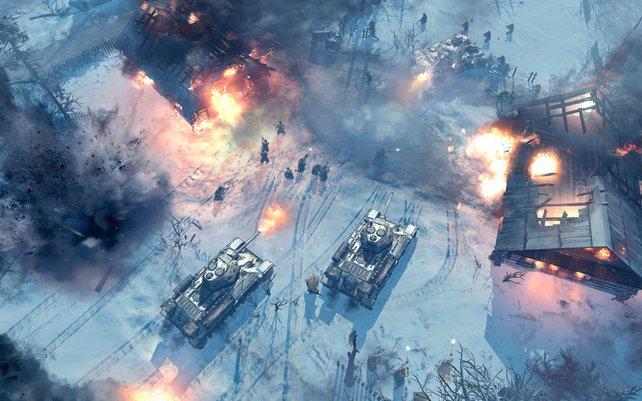 Beissende Kälte, brachiale Schlachten: Company of Heroes geht an die Ostfront.