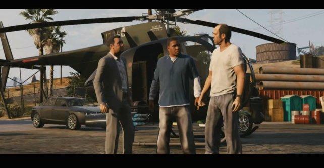 Michael, Franklin und Trevor machen gemeinsame Sache (von links).