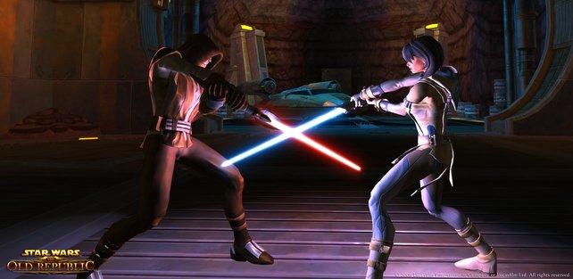 Lichtschwerter dürfen bei Star Wars nicht fehlen!