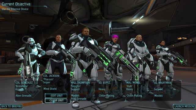 Die Xcom-Truppe steht bereit, der Alien-Bedrohung zu zeigen, was eine Harke ist.