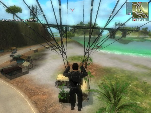 Auch Fallschirmspringen darf der Held