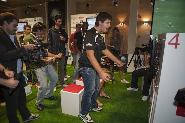 Emotionen beim jüngsten Teilnehmer Ettorito aus Italien.