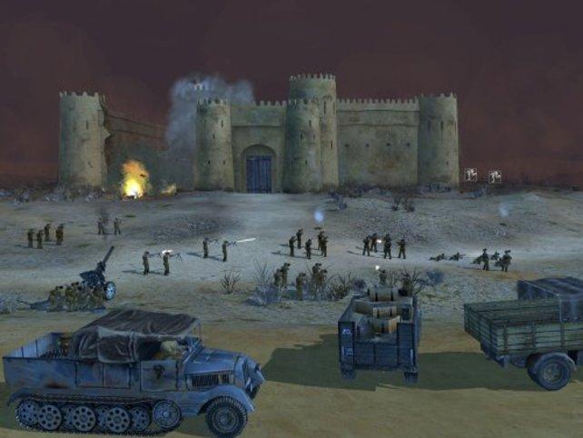 Der Einsatz der Artillerie ist besonders wichtig.
