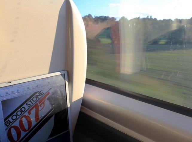 Mit dem Zug zu unserem ersten Entwickler-Termin.