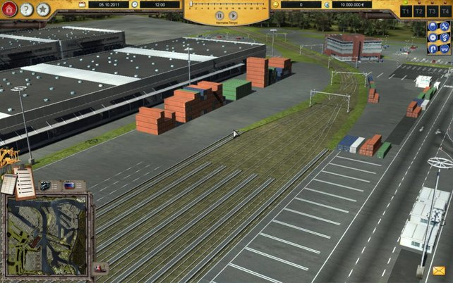 Eine besonders triste Umgebung findet ihr im Hafen Simulator - Hamburg 2012. Nicht zu empfehlen.