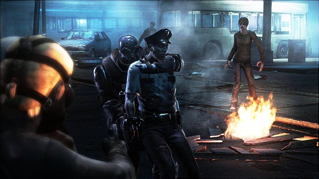 In Deckung: Zombies müssen auch mal als Schutzschilde herhalten.