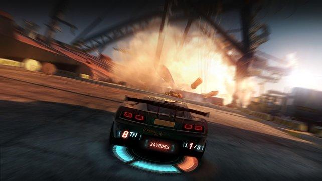 Durch Drifts und waghalsige Überholmanöver lädt sich die Powerplay-Leiste auf.