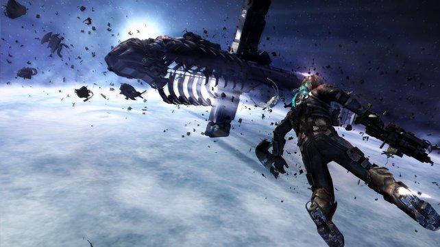 Den Großteil des Spiels verbringt ihr auf dem Eisplaneten Tau Volantis.