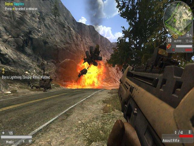 Eine sehenswerte Explosion
