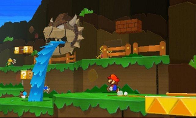 Marios plattes Papierreich ist ziemlich hübsch.