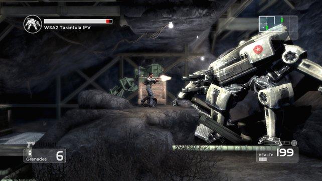 Mit den frisch erbeuteten Granaten ist der zweite Boss im Spiel kein Problem.