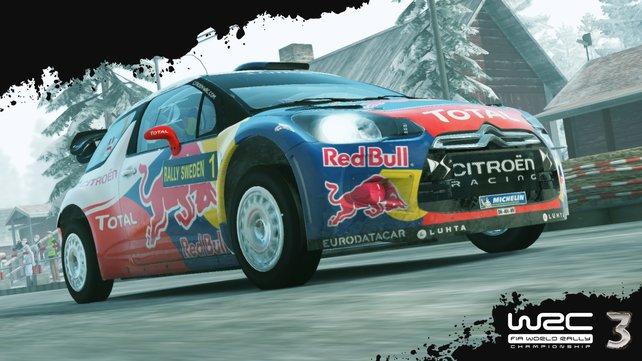 In WRC 3 seid ihr mit offiziell lizenzierten Autos auf Original-Strecken unterwegs.