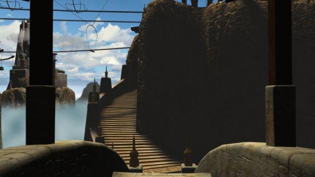Die Treppe zum Tempel