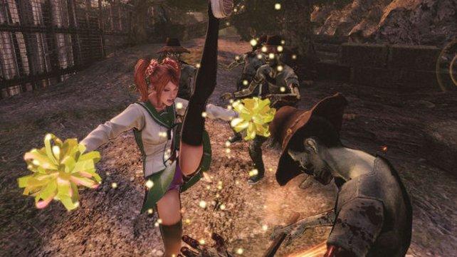 Mit schnellen Attacken bringt ihr die Zombies ins Wanken.