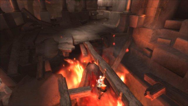 Die satten Farben kommen vor allem bei Lava und Feuer zur Geltung.
