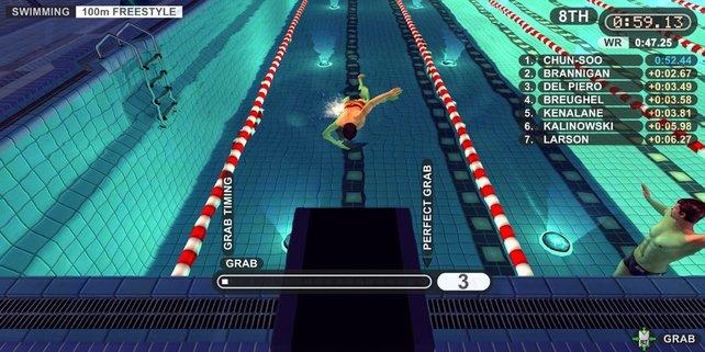 Optisch machen die Schwimmwettbewerbe am meisten her.