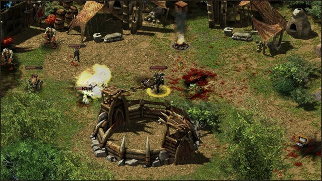 Gegner hinterlassen in Hellbreed immer eine große Blutlache.