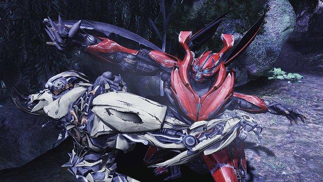 Auch Nahkämpfe bestreiten die Autobots und Decepticons.