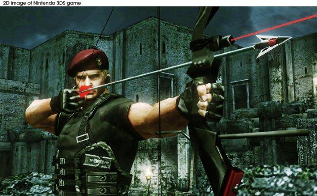 Jack Krauser nutzt einen Bogen als Spezialwaffe.