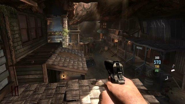 Eine unterirdische Wildwest-Stadt, die mit Zombies überlaufen ist? Nette Idee, aber spielerisch nichts Neues.