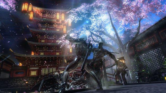 Das Spiel sieht mit seinen Licht- und Farb-Effekten gut aus.