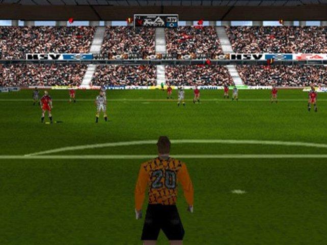 """Ein Bild aus """"Bundesligastars"""", der Fußballmanager hat die gleiche Spielegrafik"""