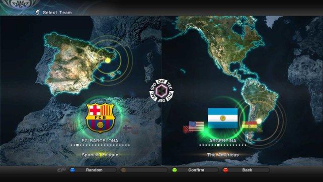 Ähnlich wie in FIFA bekommt ihr einen Weltkartenausschnitt eures Teamstandortes präsentiert.