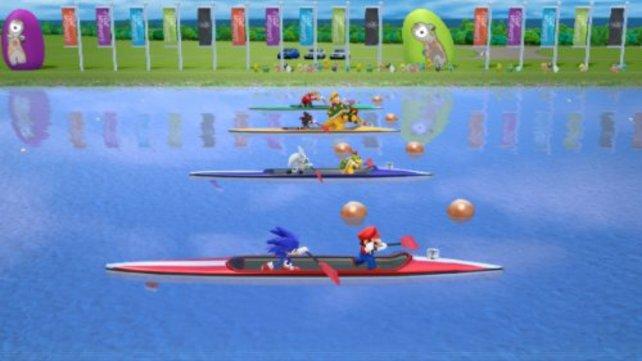 Ob die zwei Helden ein gutes Team beim Kanu fahren sind?