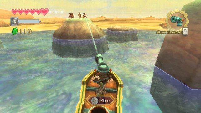 Mit dem Schiff durch die Wüste - Skyward Sword beweist immer wieder Einfallsreichtum.