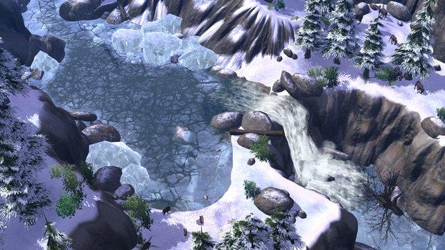 Ein zugefrorener See
