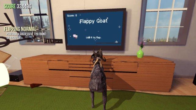Mit der Ziege macht das Spiel gleich doppelt soviel Spaß.