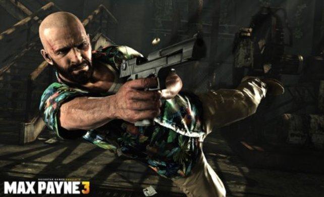 Mit Glatze, Hawaii-Hemd und dem sonnigen Sao Paulo wirkt Max Payne 3 nicht mehr ganz so düster.
