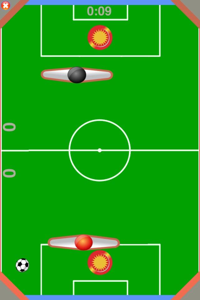 """Für ein """"Tor"""" sollt ihr die runde rote Scheibe des Gegners treffen."""