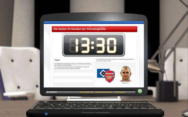 Spannend: die letzten 24 Stunden im Transferfenster. Hier wechselt Petric vom HSV zu Arsenal.