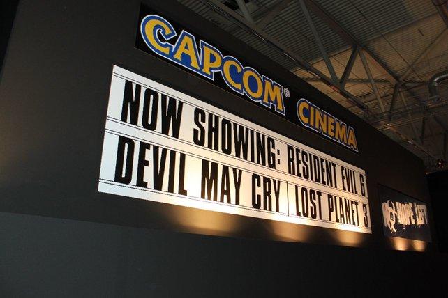 Nur hinter verschlossenen Wänden zeigt Capcom sein Aufgebot.