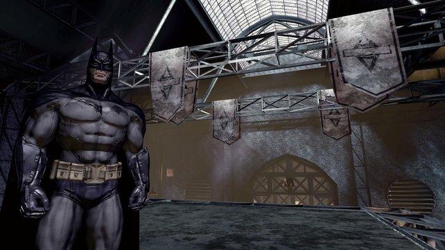 Bis auf den übertriebenen Muskelbau kann Batman kaum besser aussehen.