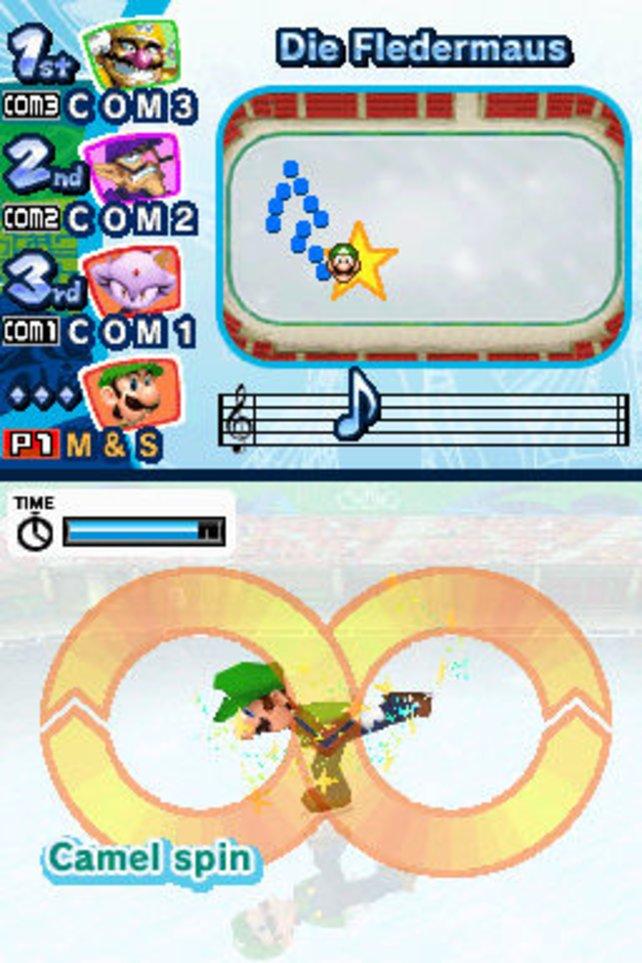 Mario auf dem Eis.
