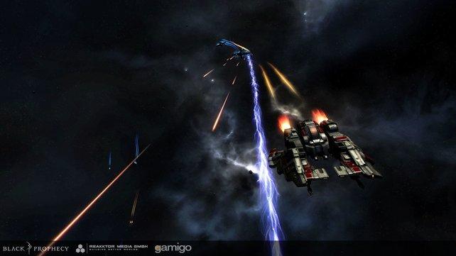 Black Prophecy bietet Weltraumkulissen mit einer soliden Grafik.