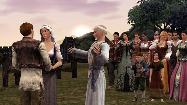 Die Liebe darf auch in Die Sims - Mittelalter nicht zu kurz kommen.
