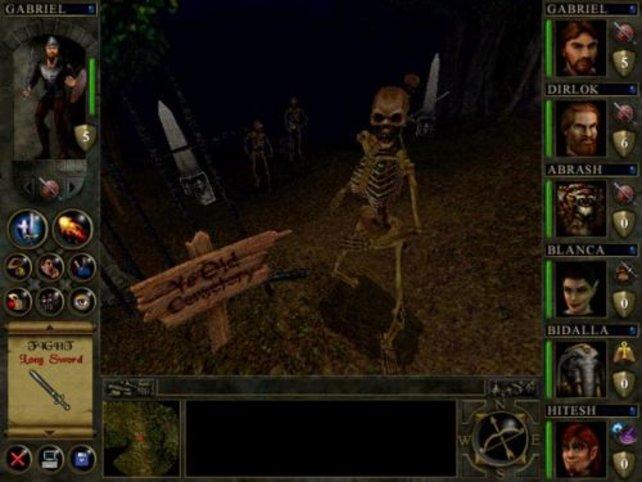 Natürlich sind Skelette wieder mit von der Partie.