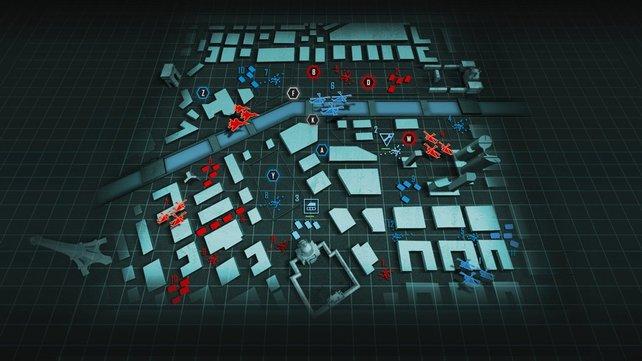 Die Übersichtskarte ermöglicht taktische Winkelzüge, das Spiel läuft im Hintergrund aber unpausiert weiter.