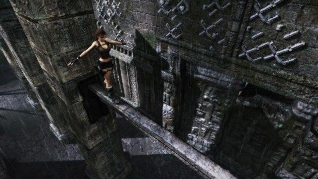 Kein Laufsteg, doch Lara macht überall eine gute Figur.